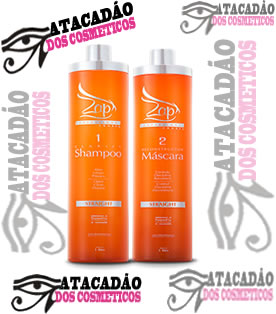 Escova Progressiva Sem Formol Zap Straight - Kit 2x1000ml
